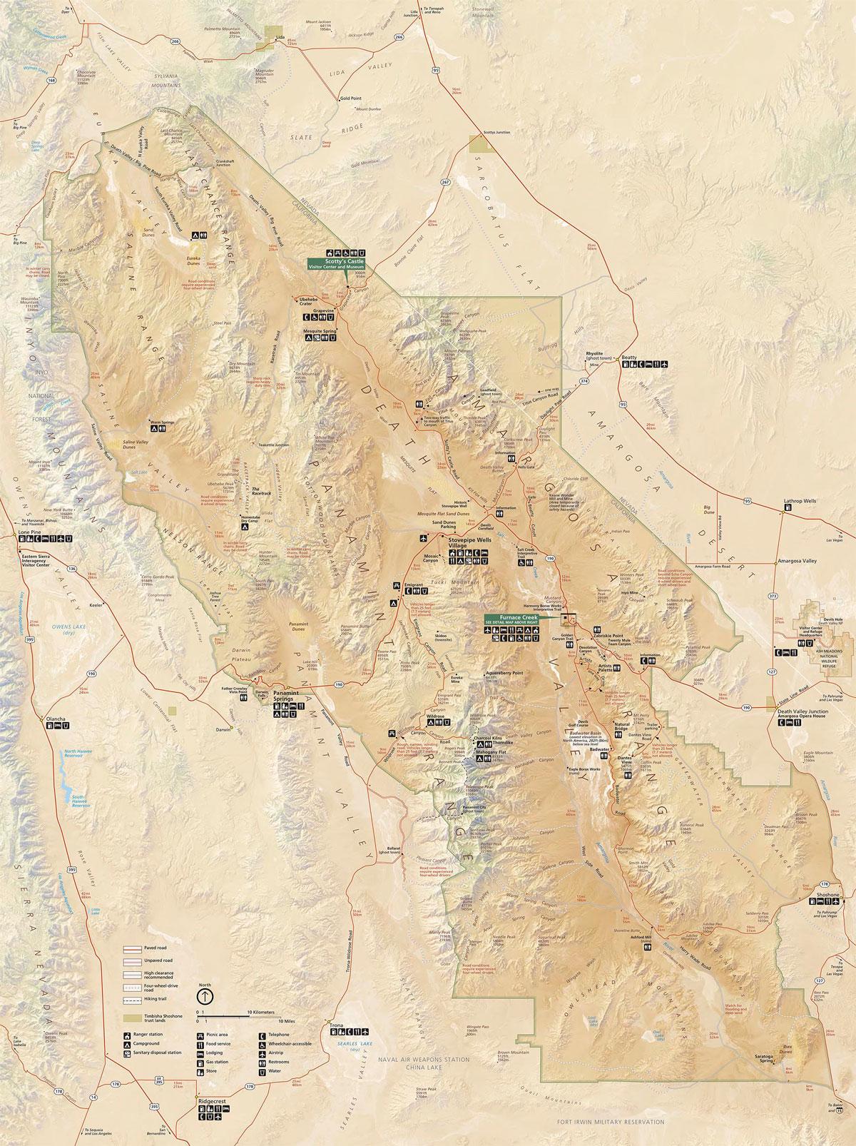 Mapa del Valle de la Muerte