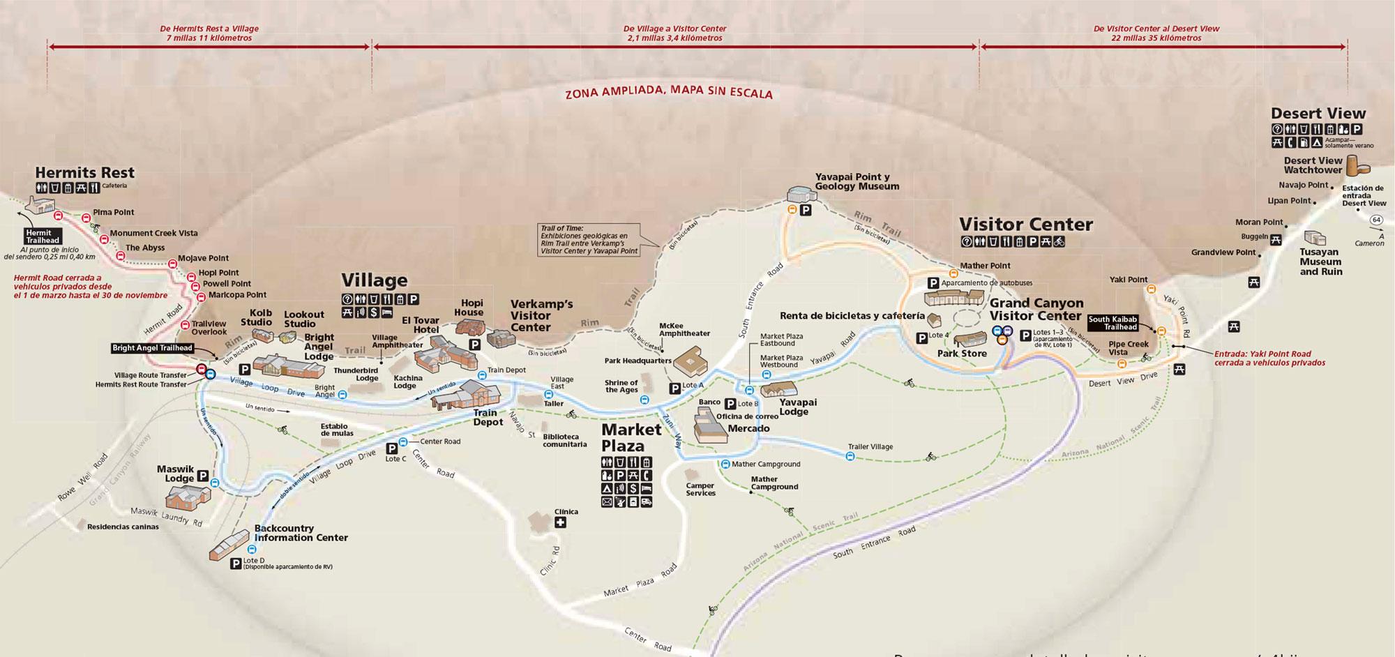 Mapa del Gran Cañón